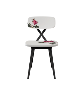 Sedia X Chair with Flower...